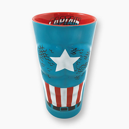 CAPTAIN AMERICA Molded Pint Glass