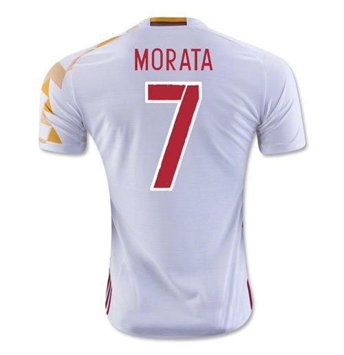 sports shoes 10048 b3eae 2016-2017 Spain Adidas Away Shirt (Morata 7) - Kids