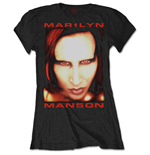Marilyn Manson Ladies Tee: Bigger than Satan