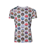 POKEMON Men's All-over Poke Ball Print T-Shirt, Extra Large, Grey