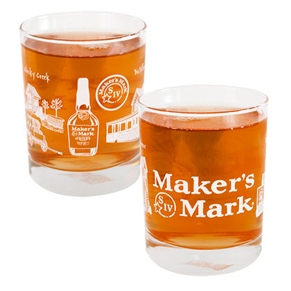 MAKER'S MARK Picture Wrapped Rocks Glass