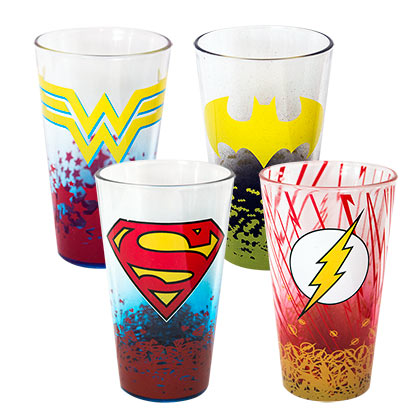 DC Comics Superhero 4 Pack Pint Glasses