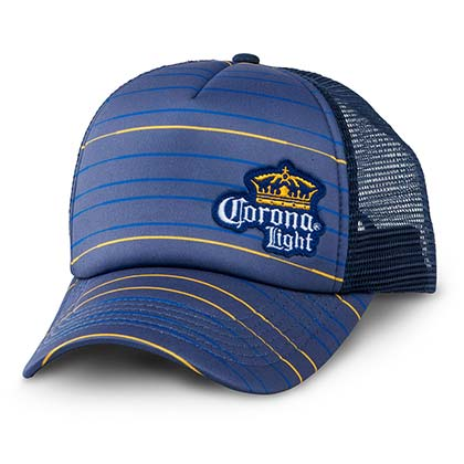 Corona Light Striped Trucker Hat