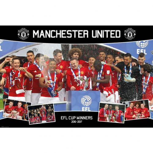 Manchester United F.C. Poster EFL Cup Winners 82