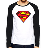 Superman - Logo - Unisex Baseball Shirt White