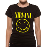 Nirvana - Smiley - Women Fitted T-shirt Black