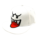 NINTENDO Super Mario Bros. Boo Flex Fit Baseball Cap, One Size, White