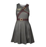 NINTENDO Legend of Zelda Woman's Link Outfit Sleeveless Dress, Large, Military Green