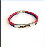 Genoa CFC Rubber and Steel Bracelet