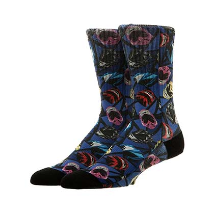POWER RANGERS Men's Helmet Print Crew Socks