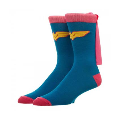 WONDER WOMAN Caped Blue Socks