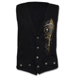 Steam Punk Reaper - Gothic Waistcoat Four Button with Lining