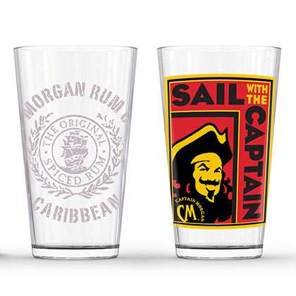 CAPTAIN MORGAN Set of 2 Pints Captain Sail PLACEHOLDER