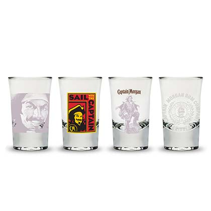 CAPTAIN MORGAN 4 PC Shot Glass Set
