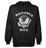 Ramones Men's Hooded Top: Retro Eagle New York City