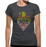 Power Rangers - Group - Women Fitted T-shirt Grey