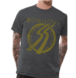 Bon Jovi - Slippery Tour - Unisex T-shirt Grey