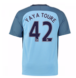 2016-17 Man City Home Shirt (Yaya Toure 42) - Kids