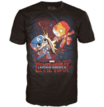 Marvel Comics POP! Tees T-Shirt Civil War - Fight!