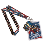 Marvel Comics POP! Lanyard with Rubber Keychain Captain America