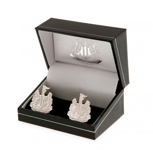 Newcastle United F.C. Silver Plated Cufflinks CR