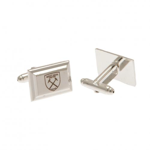 West Ham United F.C. Silver Plated Cufflinks