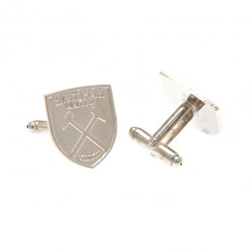 West Ham United F.C. Silver Plated Cufflinks CR