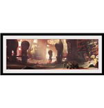 Halo Framed Print - City Scape - 75x30 Cm