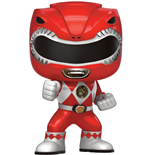 Power Rangers POP! Television Vinyl Figure Red Ranger Metallic Limited 9 cm
