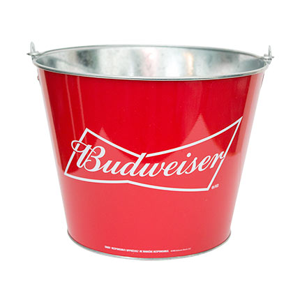 BUDWEISER Classic Red Beer Bucket