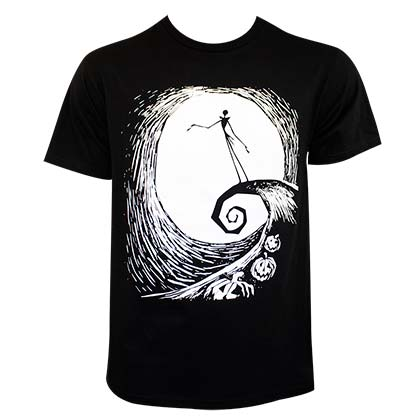 Nightmare Before Christmas Swirl Tee Shirt