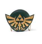NINTENDO Legend of Zelda Woman's Golden Hylian Royal Crest Ladies Purse with Attached Chain, One Size, Dark Green
