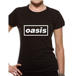 Oasis - Black Logo - Women Fitted T-shirt Black