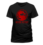 Mortal Kombat - Distressed Logo - Unisex T-shirt Black