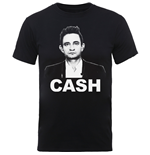 Johnny Cash Men's Tee: Staight Stare