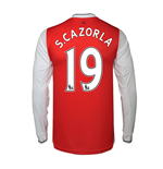2016-17 Arsenal Long Sleeve Home Shirt (S.Cazorla 19)