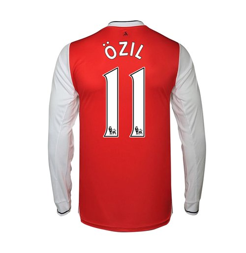 2016-17 Arsenal Long Sleeve Home Shirt (Ozil 11)