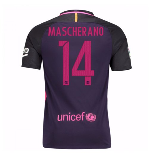 2016-17 Barcelona With Sponsor Away Shirt - (Kids) (Mascherano 14)