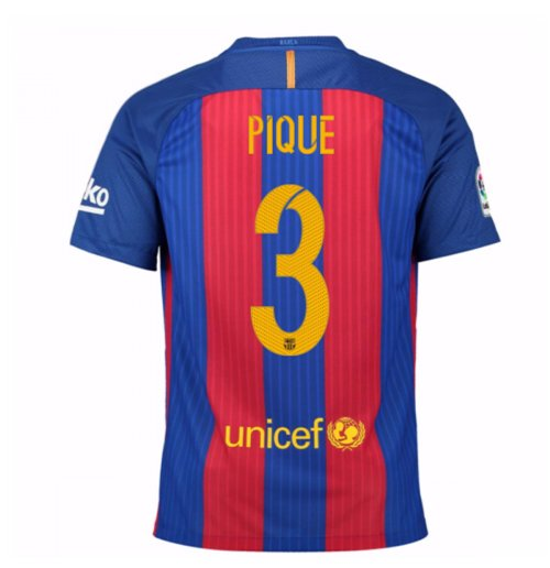 2016-17 Barcelona Home Shirt (Pique 3) - Kids