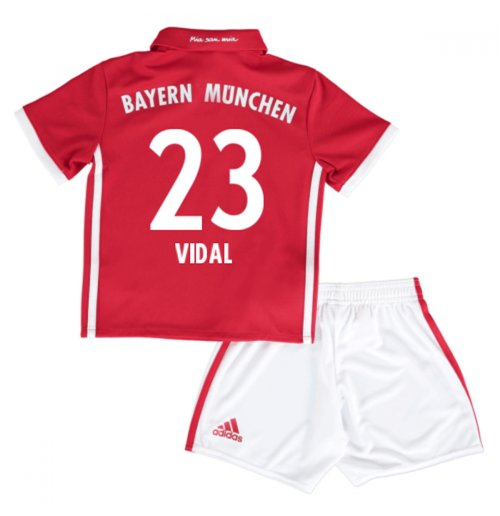 2016-17 Bayern Munich Home Mini Kit (Vidal 23)