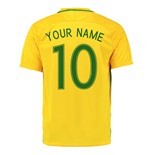 2016-17 Brazil Home Shirt (Your Name)