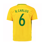 2016-17 Brazil Home Shirt (R.Carlos 6) - Kids