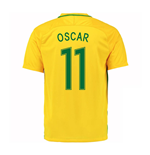 2016-17 Brazil Home Shirt (Oscar 11) - Kids