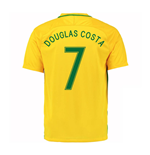 2016-17 Brazil Home Shirt (Douglas Costa 7)