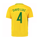 2016-17 Brazil Home Shirt (David Luiz 4) - Kids