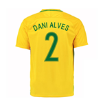2016-17 Brazil Home Shirt (Dani Alves 2) - Kids