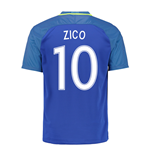 2016-17 Brazil Away Shirt (Zico 10) - Kids
