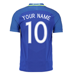 2016-17 Brazil Away Shirt (Your Name)