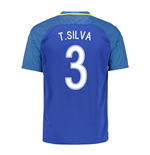 2016-17 Brazil Away Shirt (T.Silva 3) - Kids