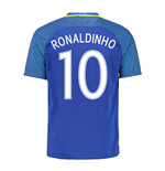 2016-17 Brazil Away Shirt (Ronaldinho 10) - Kids